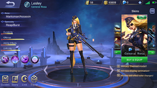 Cara Build Item Lesley Mobile Legend Auto Savage