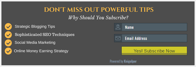 Horizontal Email Subscribe Widget
