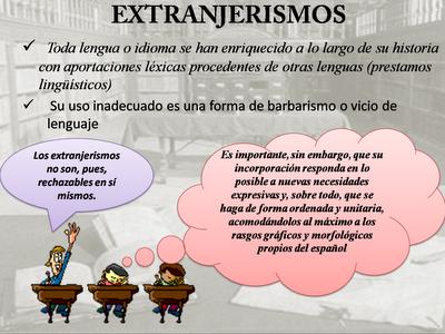 Extranjerismos en español