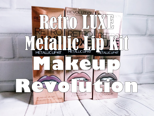 Retro LUXE metallic Lip Kit- Makeup Revolution