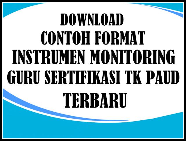 Download Contoh Format Monitoring Guru Sertifikasi TK PAUD Terbaru