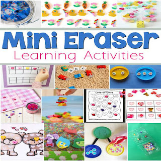So many fun ways to learn using mini erasers!