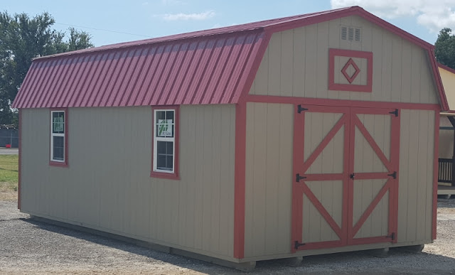 Nice Colors! 12 X 24 Lofted Storage Shed. Lotu0027s Of Storage Space!