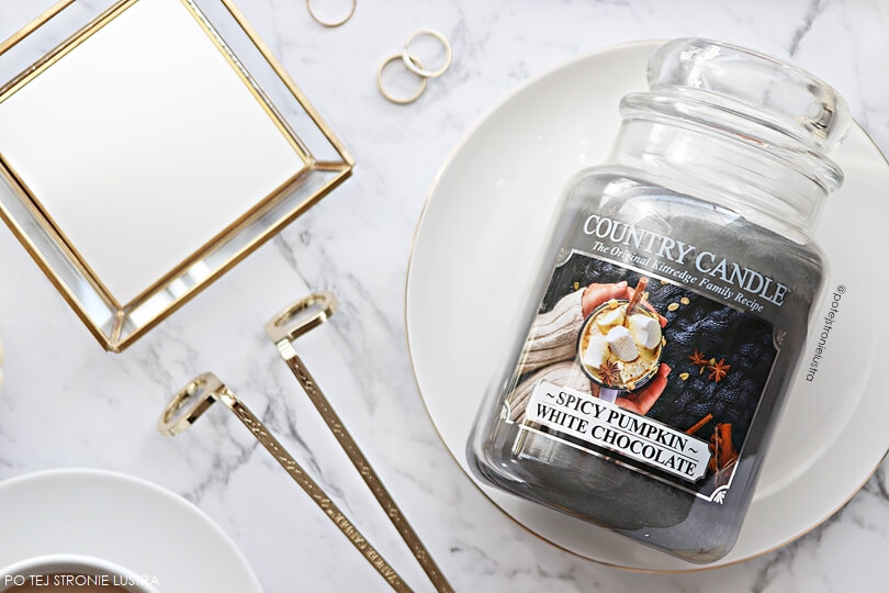 country candle spicy pumpkin white chocolate nowość jesień 2018
