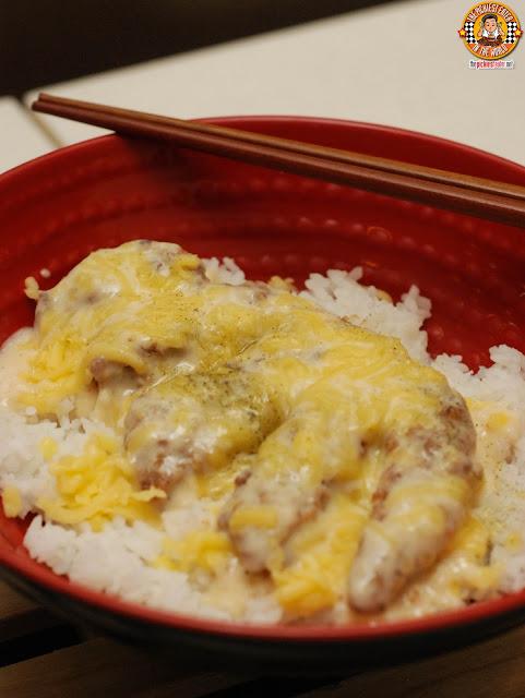 Cheesy Pork Tonkatsu Donburi