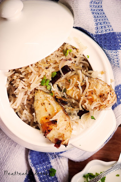 how to make Fish Pulao / Macher Pulao recipe and preparation with step by step pictures