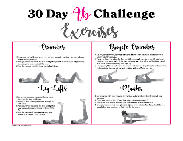 Southern Mom Loves: 30 Day Ab Challenge {with Calendar and Exercise ...