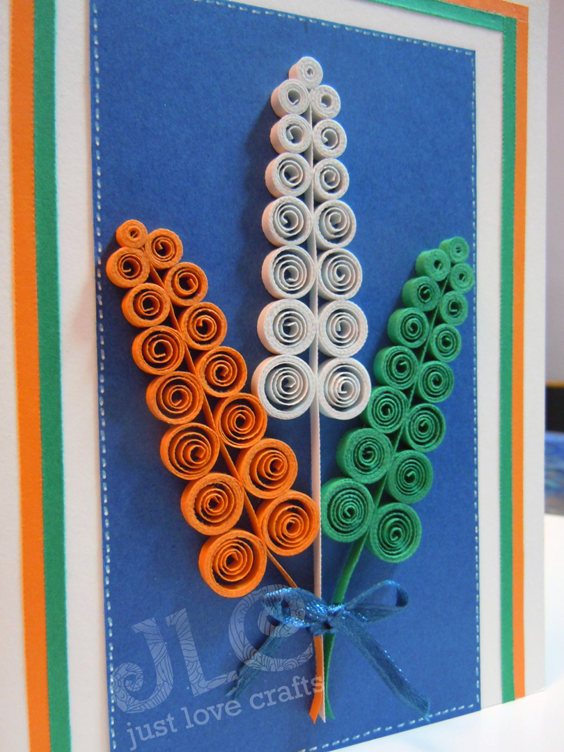 Saturday september also just love crafts tricolor quilled card updated rh justlovecraftsspot