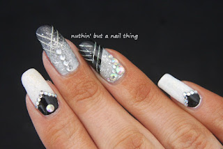 great gatsby 1920s inspired nail art