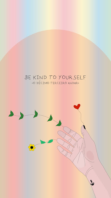 wallpaper para celular texto motivacional be kind to yourself