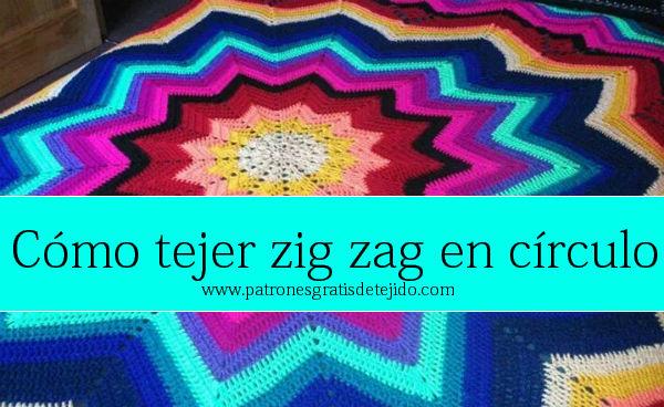 Aprende a tejer una manta zig zag con ganchillo concéntrica