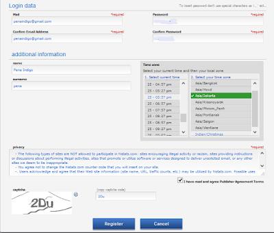 formulir pendaftaran histats