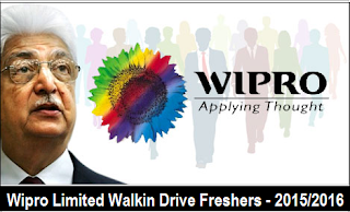 Wipro Limited Walkin Drive for Freshers