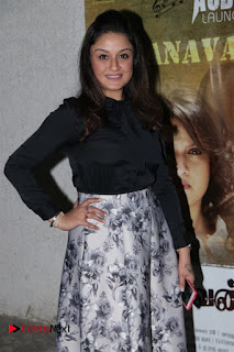 Actress Sonia Agarwal Stills in Black Top at Yevanavan Tamil Movie Audio Launch Event  0005.jpg