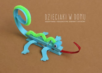 Clothespin Chameleon