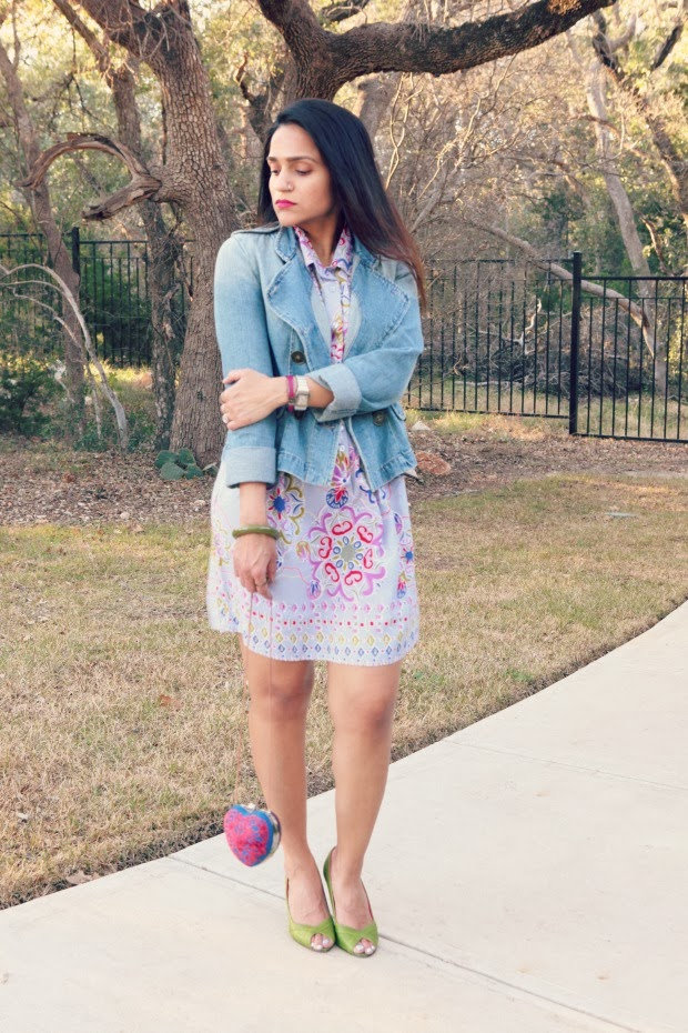 Bershka Jacket, Dress Nordstrom, Ted Baker Peep toes, Crazy & Co. Clutch, Tanvii.com