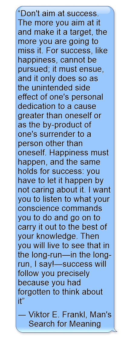 Viktor E. Frankl on success