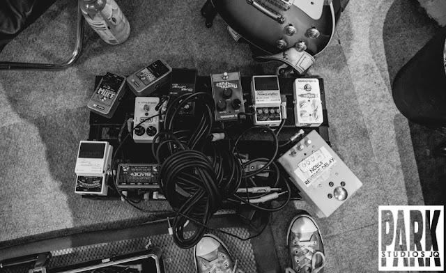 The Carnival Club EP | Birmingham Recording Studio | Park Studios JQ | pedal board