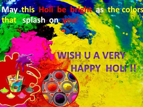 Happy Holi 2017 Sms for Family Relatives
