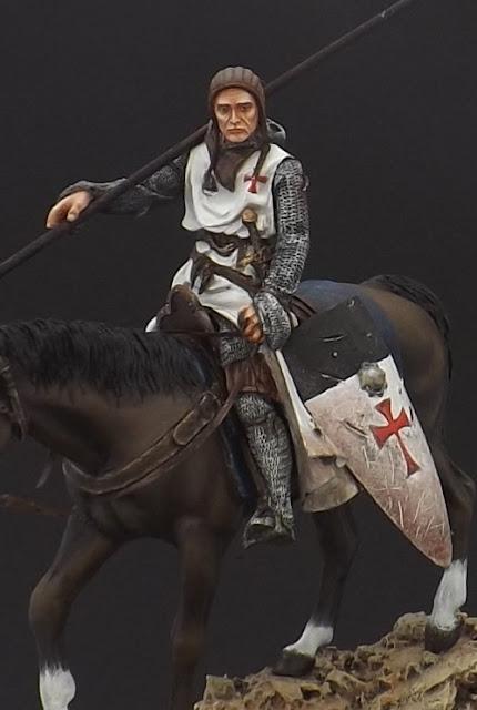 Templar Knight on Horseback c.XI - Andrea Miniatures 90mm Templar%2B8
