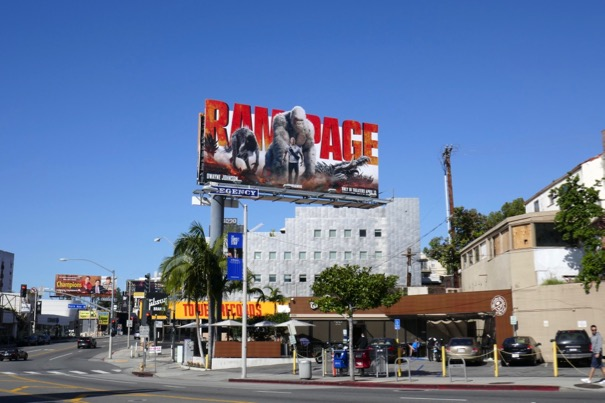 Rampage movie billboard