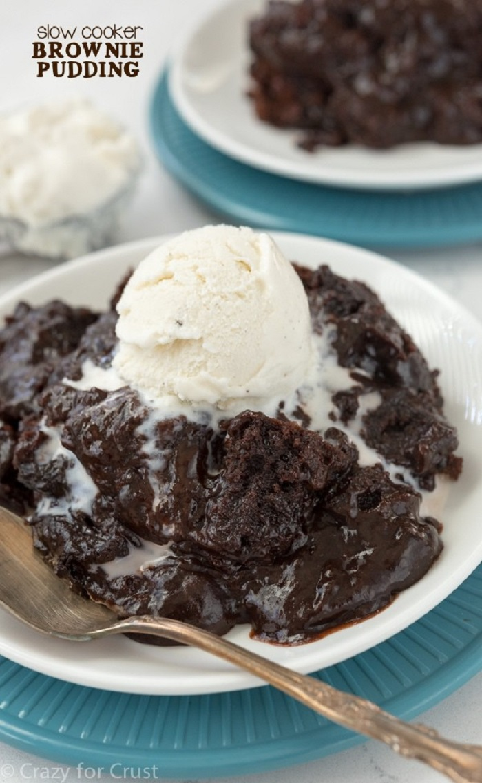 Slow Cooker Brownie Pudding