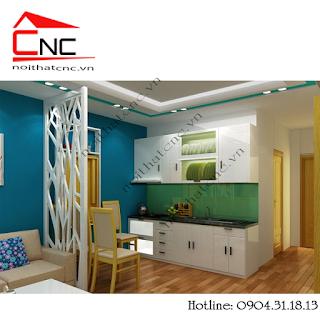 Các mẫu vách ngăn trang trí đẹp giữa phòng khách và phòng bếp ở tphcm.