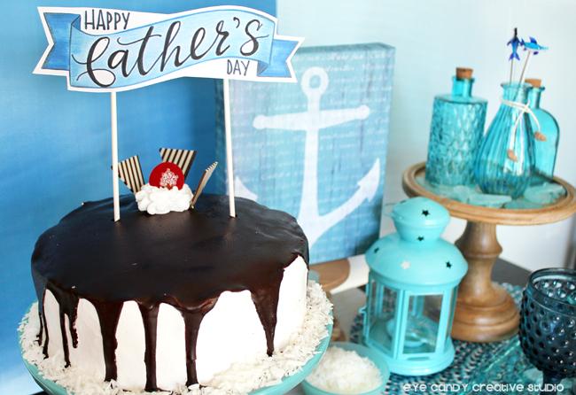 free father's day cake topper, cold stone creamery ice cream cake