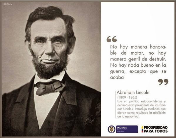 Abraham Lincoln: No hay Manera Honorable de Matar