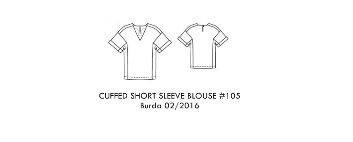 cuffe short sleeve blouse 105 Burda