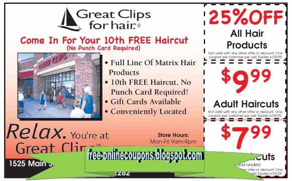 If you're crunched for time, Great Clips accepts walk-ins and will cut, style or wash your hair in record time. When you're done getting groomed, browse the impressive hair care products sold at every location with a Great Clips coupon, including forming cream, leave-in conditioner, tea tree oil and more.