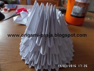 Jak zrobić kielich komunijny - origami modułowe.
