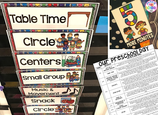 Preschool Daily Schedule and Visual Schedules