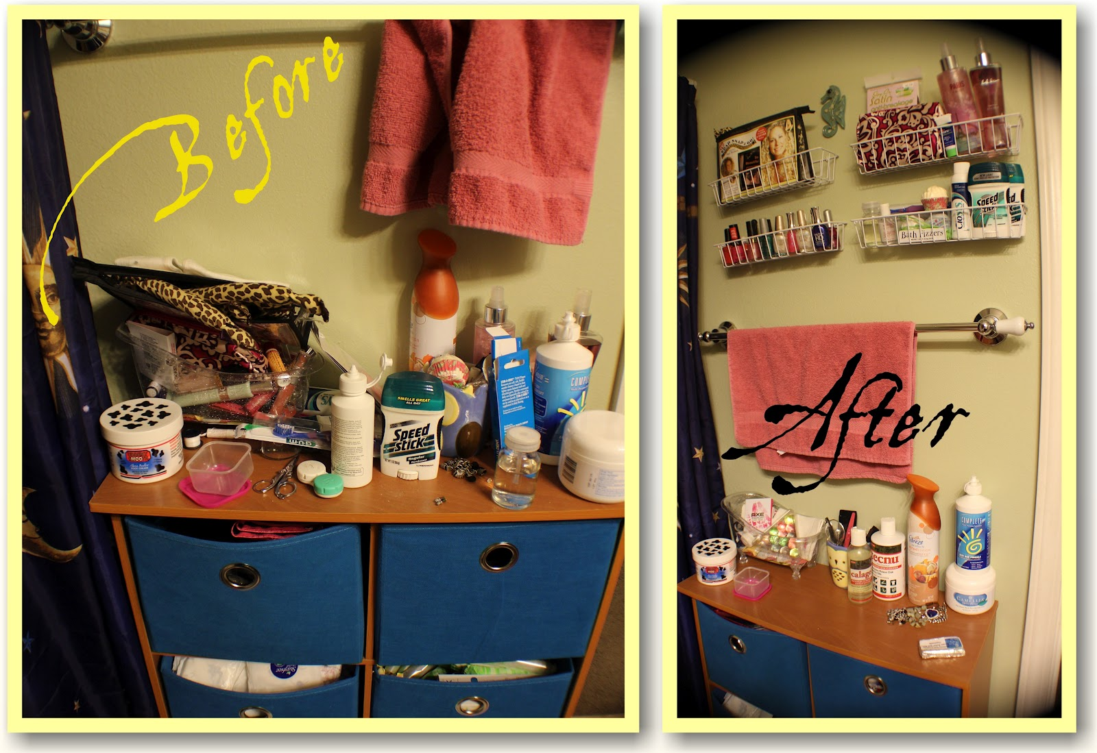 { HOW TO } Organize Small Bathroom Space | Notes