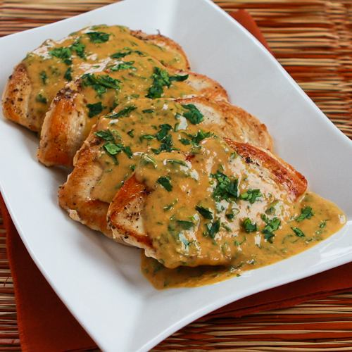 Chicken Breasts With Cilantro And Red Thai Curry Peanut