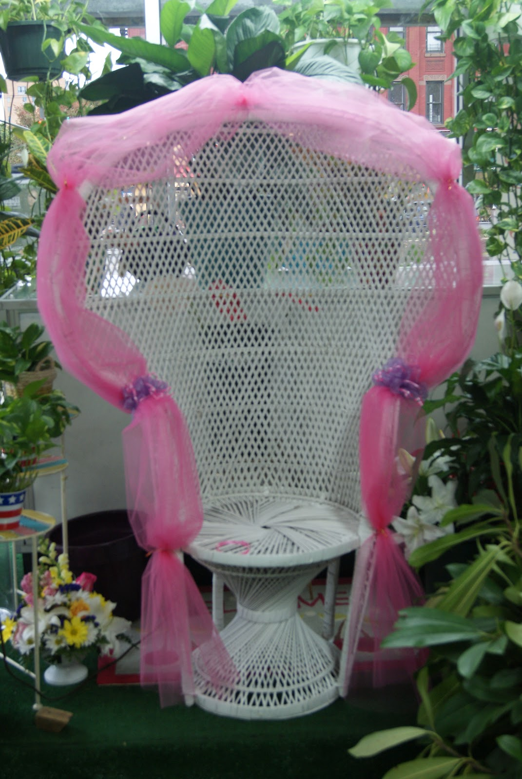 Baby Shower Chairs For Rent Wooden Recliner Chair Floral Expressions Of Harlem