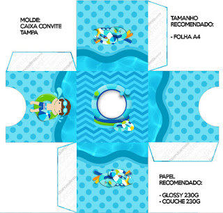 Boy in Pool: Free Printables Boxes.