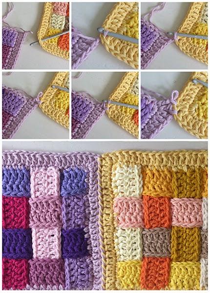 Braided/Woven Crochet Block Photo Tutorial