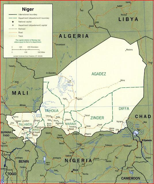 image: Niger political map