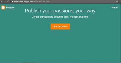 langkah dasar membuat blogger