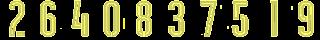 15 Kit Numbers Puma 2017