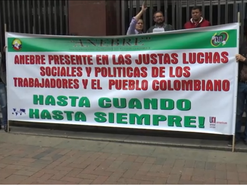 Gran plantón de Anebre para denunciar políticas represivas del Banco de la República