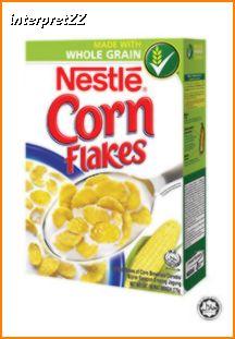 Gambar bungkusan Nestle Corn Flakes keluaran NESTLE Malaysia