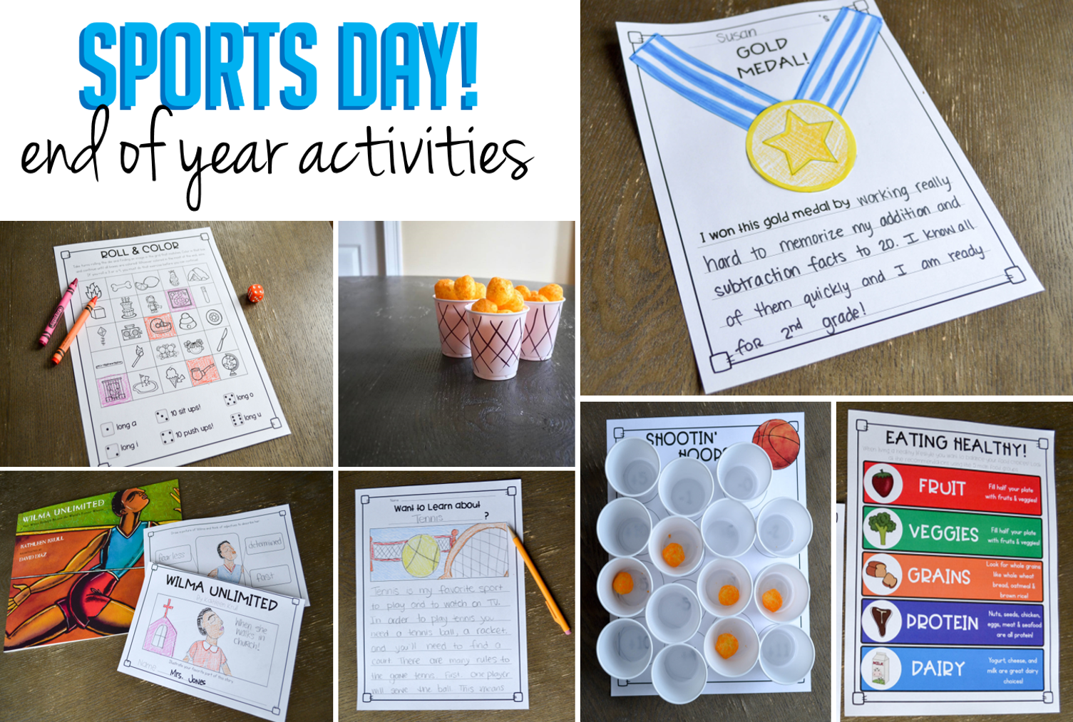 End Of Year Fun Worksheets : Sports day end of year activities susan jones