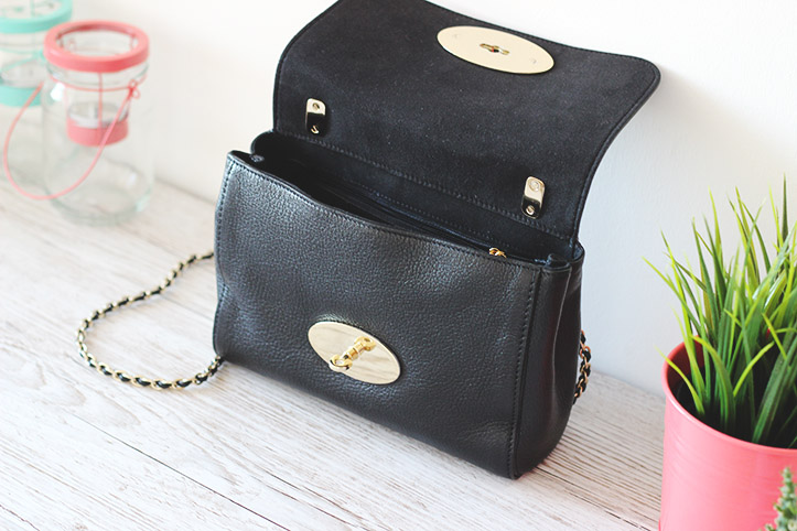 lily mulberry bag small black