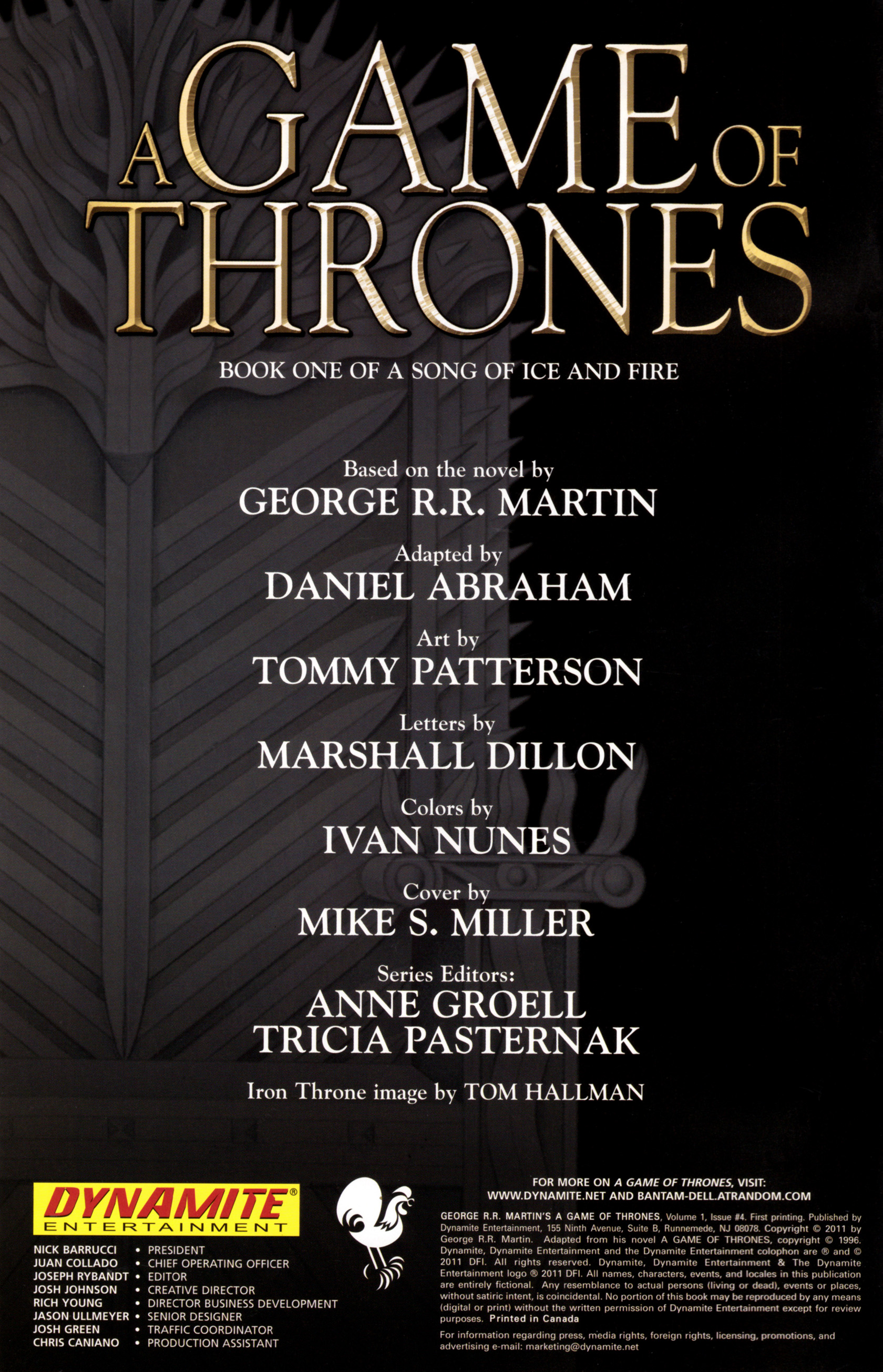 Read online A Game Of Thrones comic -  Issue #4 - 2
