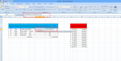rumus vlookup di Microsoft Excel 2007