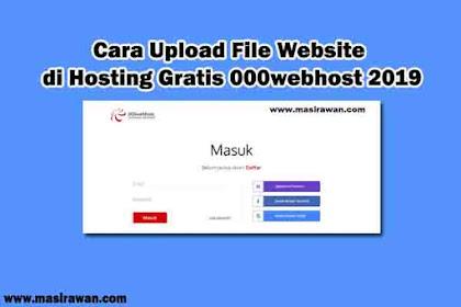 Cara Upload File Website di Hosting Gratis 000webhost 2019