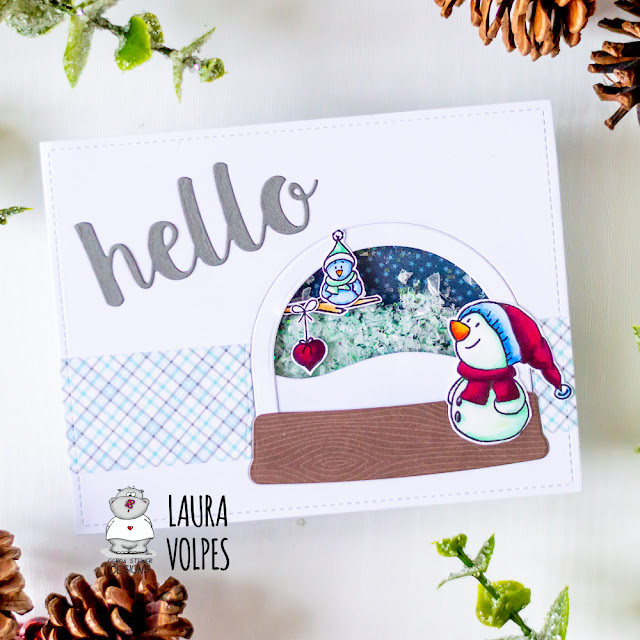 Winter Shaker Card feat Gerda Steiner Designs