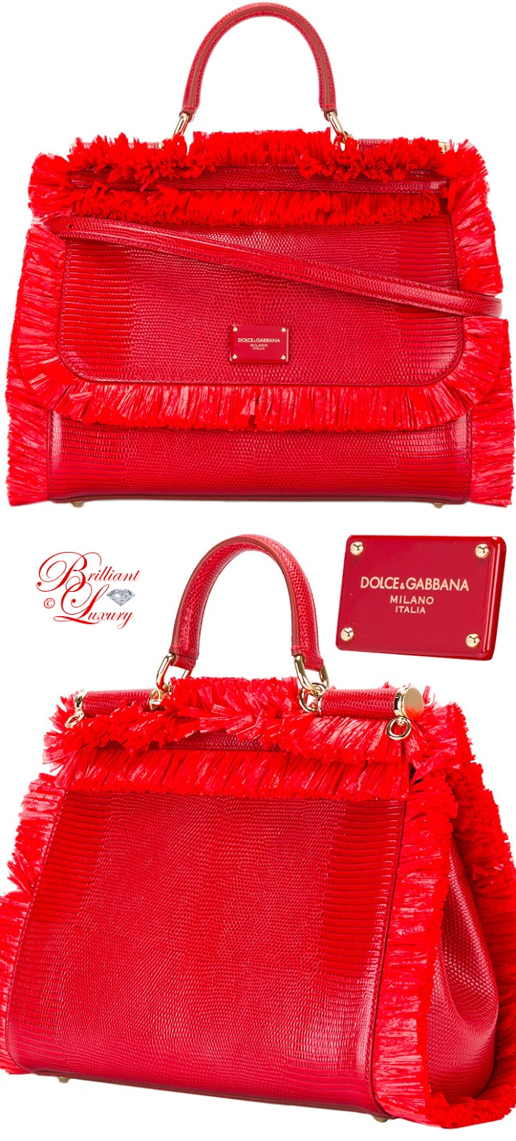 Brilliant Luxury ♦ Dolce & Gabbana Fringed Detail Handbag